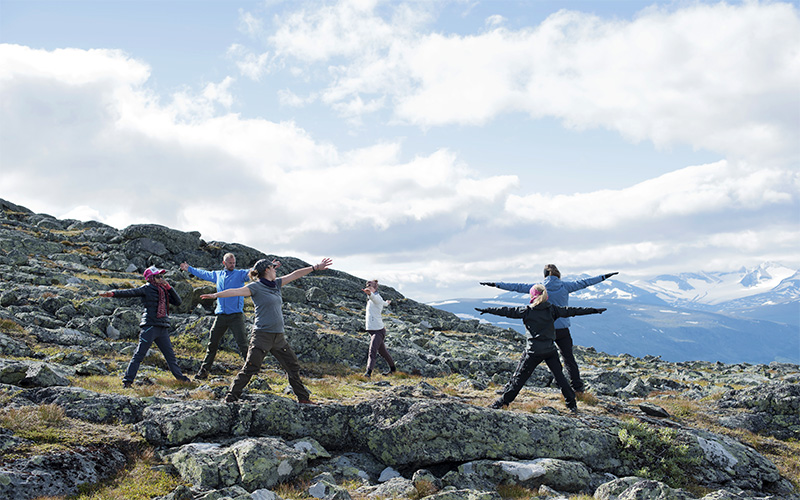 yoga på Skierfe