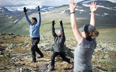 Yogavandring i Laponia