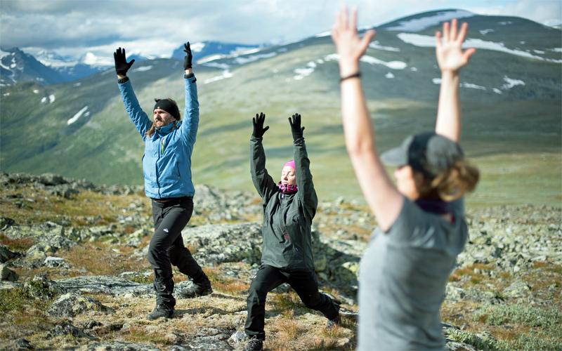 Yoga on Skierfe