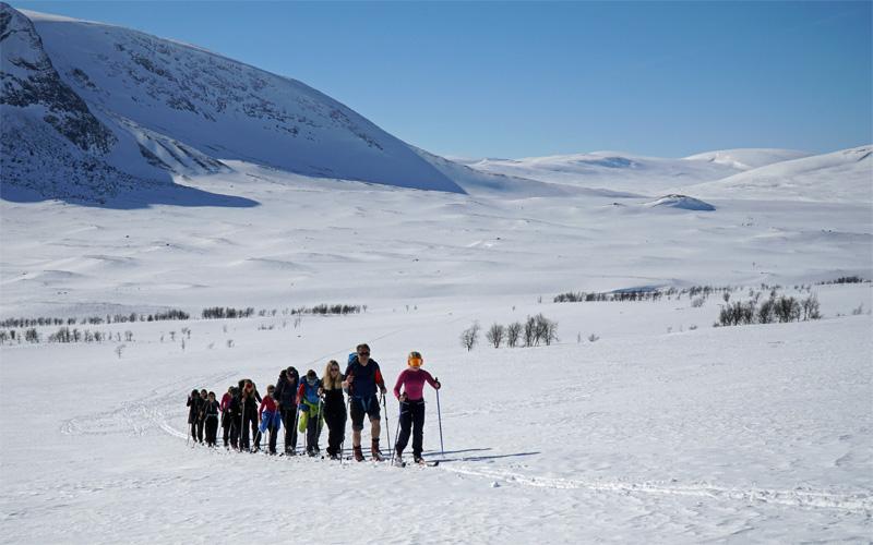 ski tour in Laponia