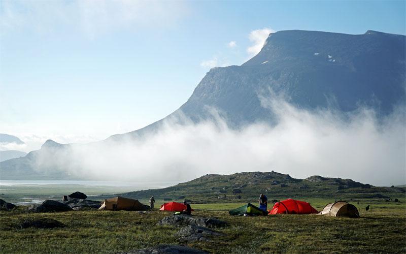 Camping in Sarek