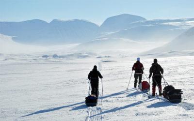 On skis in Sarek